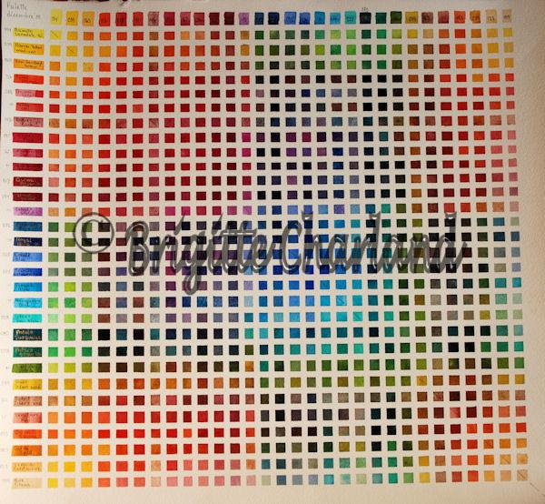 Techniques diverses de l 39 aquarelliste brigitte charland - Peinture carre couleur ...